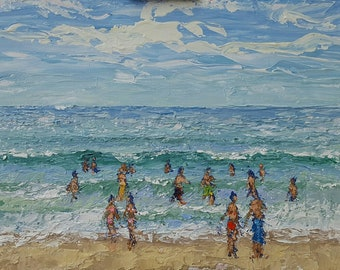 "Florida Waters, acrylics on canvas panel, 12""x16"", plein air, original, signed"