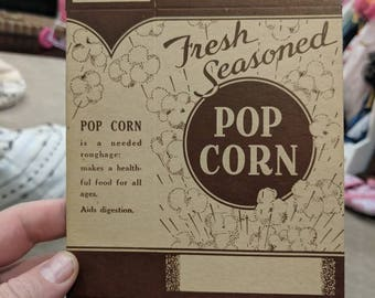 NOS & Original 1940's Pop Corn Boxes - Movie Theatre