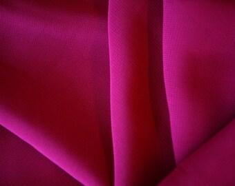 """Burgundy Poly Chiffon Fabric 60"""" Wide Per Yard"""