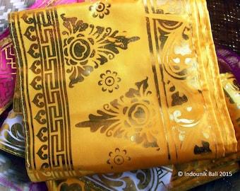 Balinese Traditional Prada Trim Yellow 20cm x 2 meters
