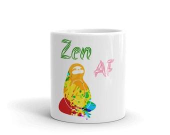 Zen AF hippie sloth Mug