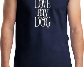 Men's I Love My Dog Muscle Tee T-Shirt 21255E2-2700