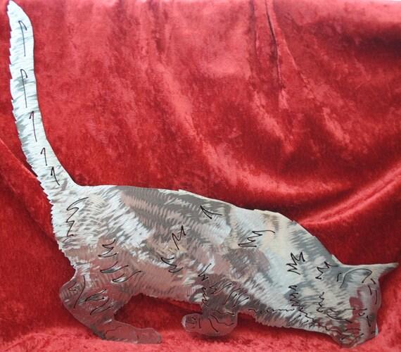 Cat, Medium Short Hair, Metal Wall Art Decor, Pets