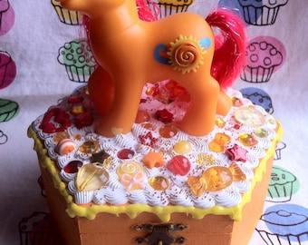 My Little Pony Jewelry Box Seascape Medium OOAK