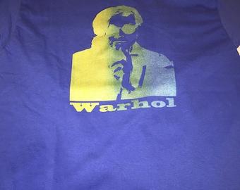 Andy Warhol dark blue