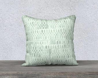 Mint Pillow, Mint Pillowcase, Mint Throw Pillow, Pale Green Pillow, Velveteen Pillow, Mint Decor, Mint Lumbar Pillow, Square Mint Pillowcase