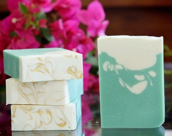Mint to Be Vegan Coconut Milk Soap with Oatmeal and Spearmint & Eucalyptus Essential Oils