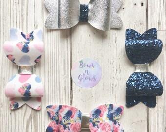 Gift set of 4 beautiful handmade bows