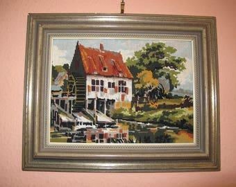 "Small tapestry ""mill"" cross stitch"