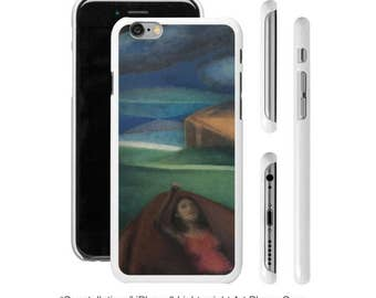 Art Phone Cases - Samsung and iPhone cases Constellations woman looking at at the stars in a lanscape