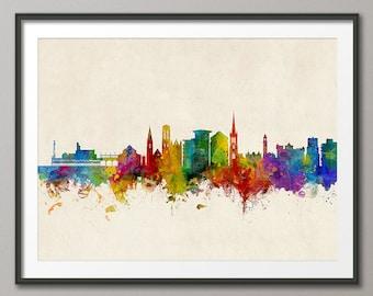 Bournemouth Skyline, Bournemouth Dorset Cityscape Art Print (2946)