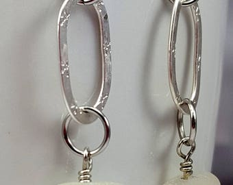 Sea Glass Jewelry Sea Glass Earrings Aqua Sea Glass Earrings Aqua Sea Glass Earrings Sea Glass Jewelry E-239