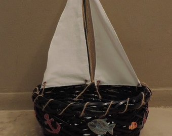 Sail Boat Basket