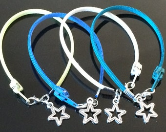 Zipper Bracelet - Star Charm