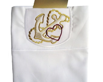 Embroidered Personalized Love Note Pocket Pillowcase Military Gift