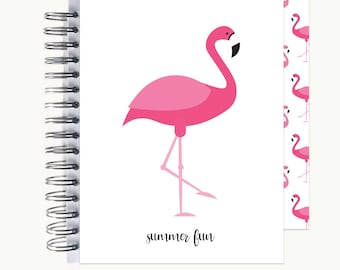 Bullet Journal – Personalized   Spiral   Dot Grid   Notebook   Flamingo