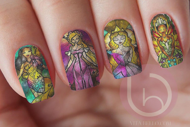 Disney Princess Part 2, Nail Decal, Waterslide Nails, Sleeping ...
