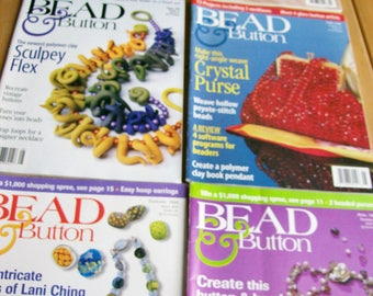 Bead & Button Magazine Issues #23 thru #28 Feb 1998 thru Dec 1998 6 Issues Bead Magazines