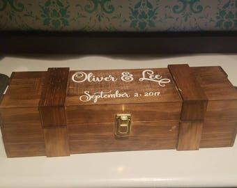 Wedding Wine Box / Wine Box Ceremony / Wedding Wine / Anniversary Wine Box / Wedding Ceremony Wine Holder / Wine Box / Wedding Gift