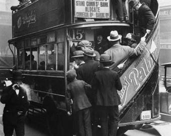 5x7 Photo.  London bus, 1920's