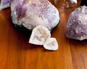 Angel Aura Quartz Geode, Opal Aura Quartz