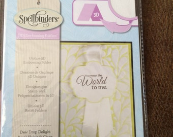 Dew Drop Delight 3D embossing folder by Spellbinders