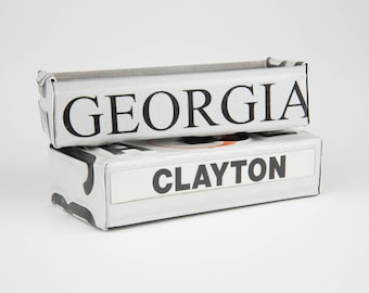 Georgia license plate box - father's day gift - gift for mom's dad's and grad's - teacher gift - graduation gift - graduation gift box