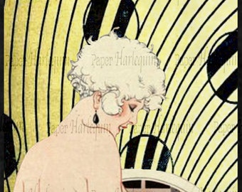 Gatsby Art Deco Poster Daisy Buchanan DIY Party Room Decor