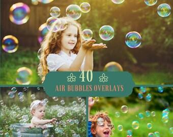 40 Bubbles Photoshop Overlays, Soap Bubbles Overlay, Realistic Soap bubble Photo effect, Bubbles Overlays, Bath Digital Backdrop