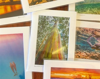 "Set of 4 (four) 5""x7"" matted prints"