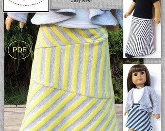 Maxi Skirt Pattern - 18 inch doll