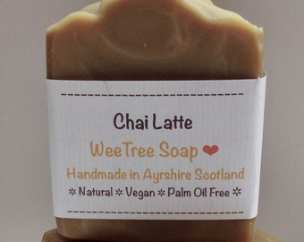 Chai Latte Scottish Natural Handmade Soap Bar