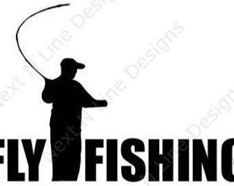 Fishing, Fly Fishing, Trout, Fly, Waders, Reel, Cast, Window Sticker, Car Decal, Vehicle Decal, Car Window Decal, Home Decor, Vinyl Decal
