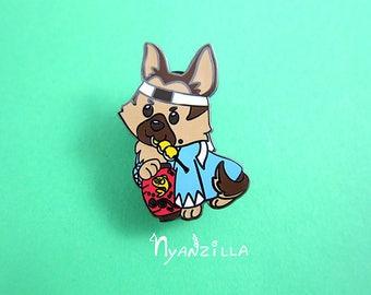 Hard Enamel Pin: Tiberius the German Shepherd Dog