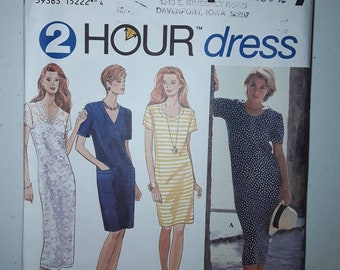 Simplicity 8927 Pullover Dress Sewing Pattern Uncut, Misses' Sizes L, XL