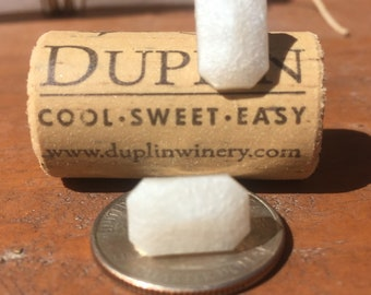 Rectangle Pearlized Resin Studs