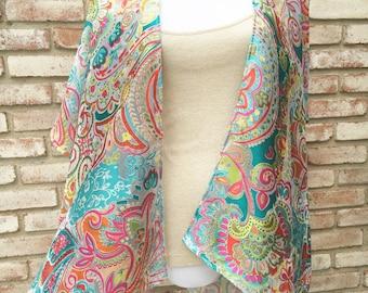 Kimono Cardigan, Boho Chic, Floral Kimono, Unicorns Rainbows, Mothers Day Gift, Kimonos, Hippy Boho Kimono, Beach Coverup, Festival Kimono