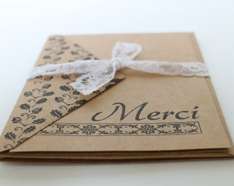 Thank you card (in french) - Merci