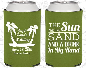 Olive Green Wedding, Olive Green Can Coolers, Olive Green Wedding Favors, Olive Green Wedding Gift, Olive Green Party Favors (450)