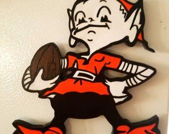 Cleveland Browns elf magnet