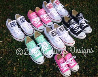 NEW COLORS! Trendy Monogrammed Converse All Star® Sneakers