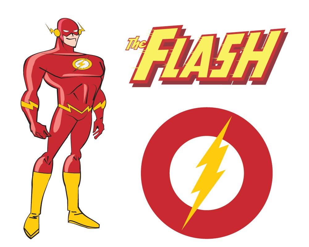 Superheroes SVG, Flash Svg, Superhero Logo Clipart, SVG DXF Png Vector File Silhouette Cricut