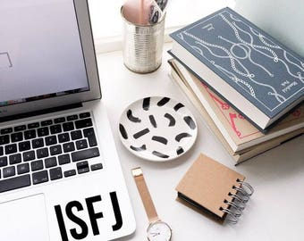 ISFJ Decal Sticker - Myers-Briggs Decal - Laptop Decal - Laptop Sticker - Macbook Sticker - Vinyl Sticker - Car Decal - iPad Decal