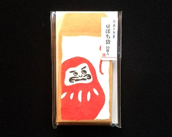 Japanese Envelopes - Dharma Dolls Envelopes  - Mini Envelopes - Tiny Envelopes - Set of 10