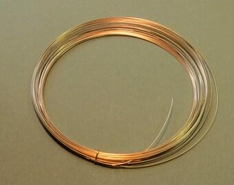 5 Feet 22 gauge Gold-Filled Wire - HALF ROUND - Half-Hard