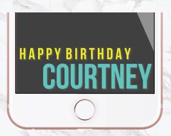 Birthday Snapchat Filter, Birthday Filter, Geofilter, Gold Balloons, Customized Birthday, Snapchat Geofilter, Sweet 16, Tassel, Teal, Gold
