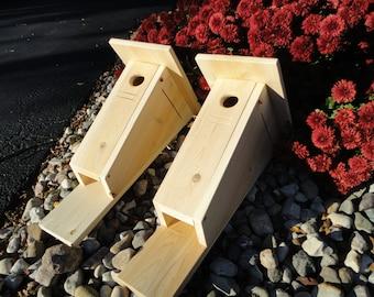 2 pack Peterson style Bluebird nest box