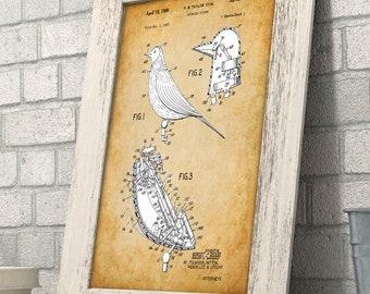 Disney Talking Bird Patent Print - 11x14 Unframed Patent Print - Great Gift for Disney Fans