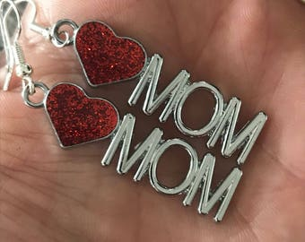 Heart Mom Earrings - CHD Mom