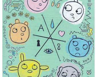 "Doodle 1 - Full Size Art Print (8x10"")"